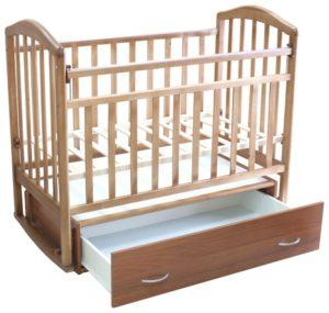 Кроватка Антел Алита-4 (качалка, маятник поперечный, ящик)