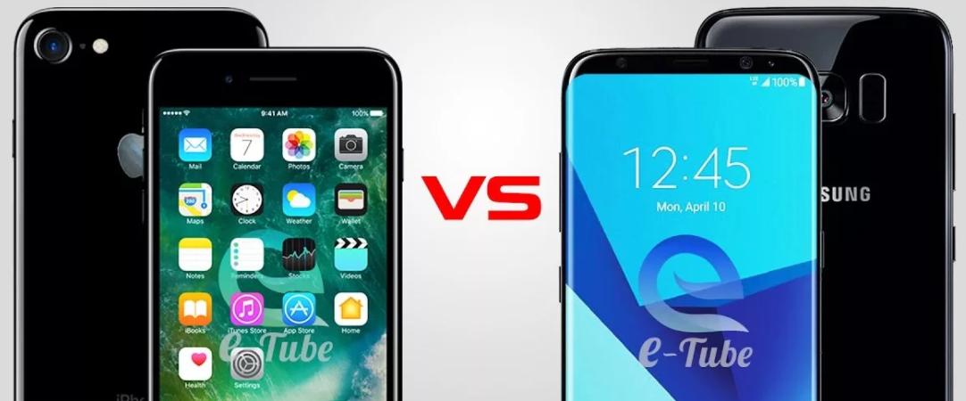 выбор между айфон и самсунг