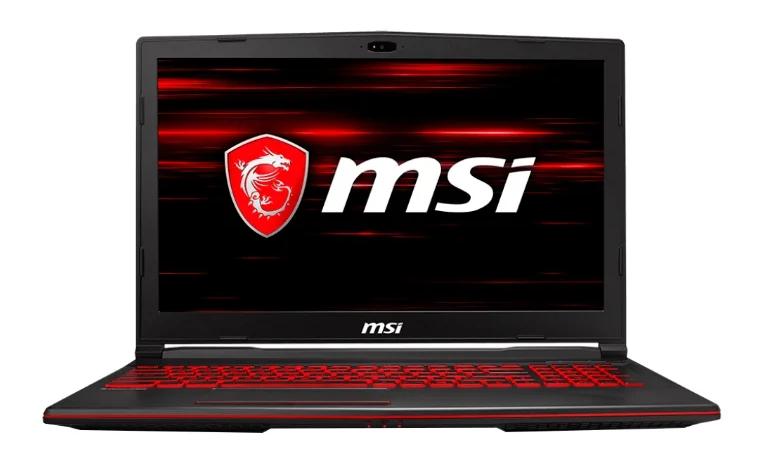 MSI GL63 8RC (Intel Core i5 8300H 2300 MHz/15.6{amp}quot;/1920x1080/8GB/1000GB HDD/DVD нет/NVIDIA GeForce GTX 1050/Wi-Fi/Bluetooth/DOS) для игр