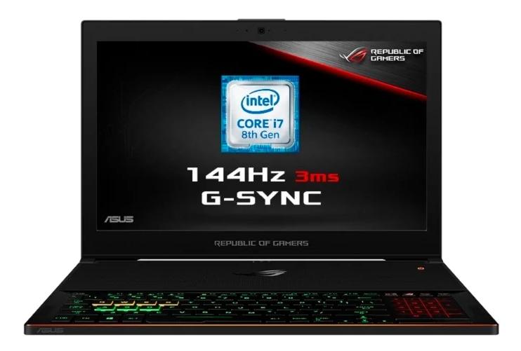 "ASUS ROG Zephyrus GX501GI (Intel Core i7 8750H 2200 MHz/15.6""/1920x1080/16GB/1024GB SSD/DVD нет/NVIDIA GeForce GTX 1080/Wi-Fi/Bluetooth/Windows 10 Home) для игр"