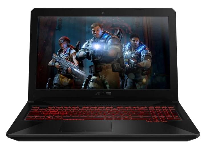 "ASUS TUF Gaming FX504GD (Intel Core i5 8300H 2300 MHz/15.6""/1920x1080/8GB/256GB SSD/DVD нет/NVIDIA GeForce GTX 1050/Wi-Fi/Bluetooth/Windows 10 Home) до 50"