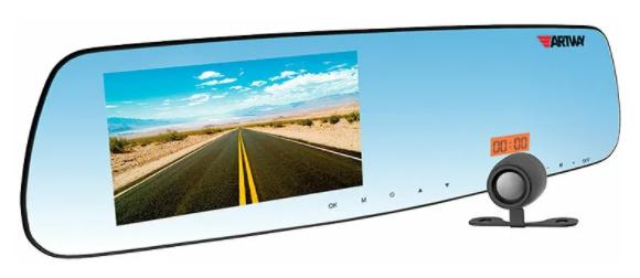 зеркало Artway MD-160 Combo 5 в 1, 2 камеры, GPS, черный