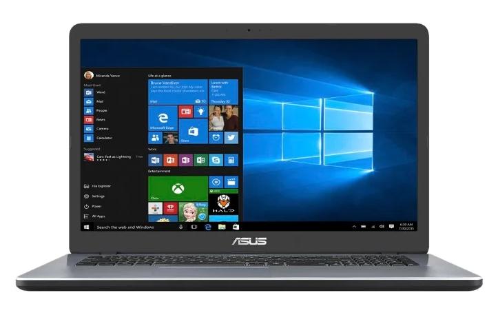 "китайский ASUS Vivobook 17 X705MA (Intel Pentium N5000 1100 MHz/17.3""/1600x900/4GB/1000GB HDD/DVD нет/Intel UHD Graphics 605/Wi-Fi/Bluetooth/Windows 10 Home)"