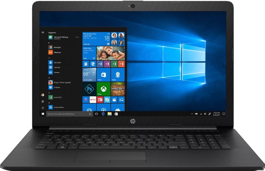 "HP 17-by0176ur (Intel Core i3 7020U 2300 MHz/17.3""/1600x900/8GB/128GB SSD/DVD-RW/Intel HD Graphics 620/Wi-Fi/Bluetooth/Windows 10 Home) 17 дюймов"