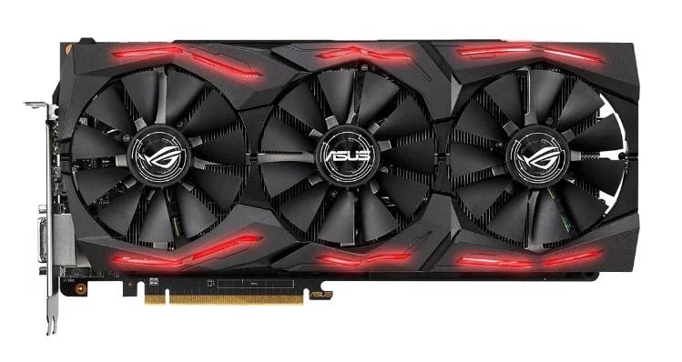 ASUS Radeon RX Vega 64 1590MHz PCI-E 3.0 8192MB 1890MHz 2048 bit DVI 2xHDMI HDCP Strix Gaming OC