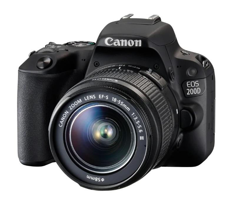 Зеркальный фотоаппарат Canon EOS 200D Kit с поворотным экраном