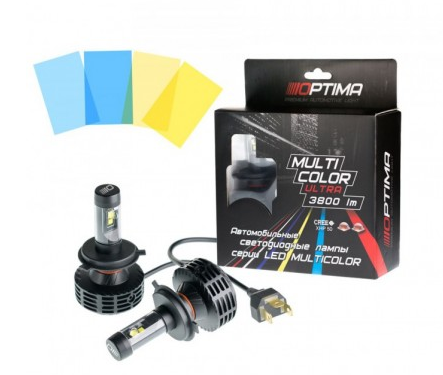 Optima Multi Color Ultra H4 3800 LM 9-32V