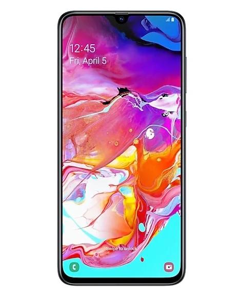 Samsung Galaxy A70 с челкой