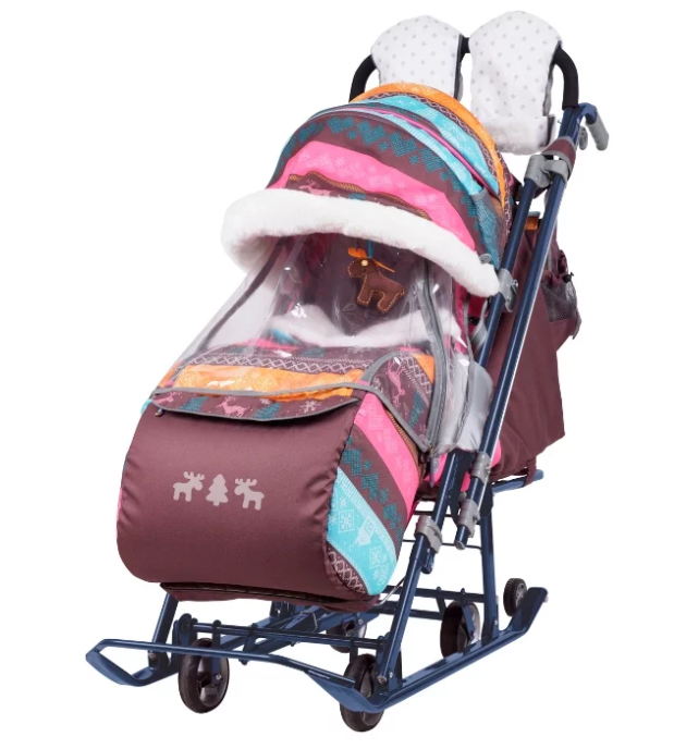 Санки-коляска Nika Ника детям 7-3 (НД 7-3)