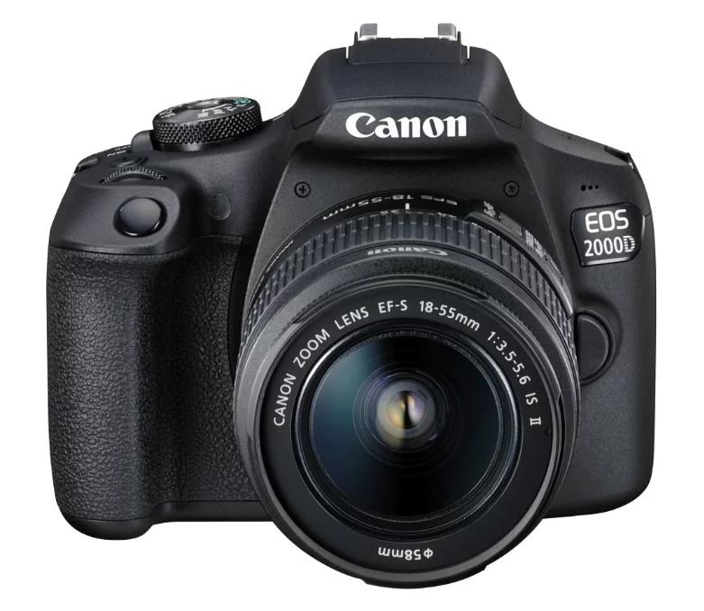 Зеркальный фотоаппарат Canon EOS 2000D Kit для начинающих
