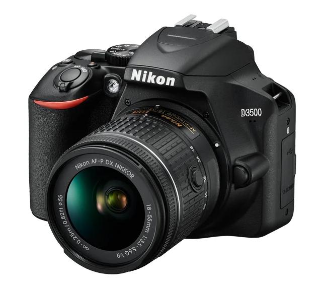 Зеркальный фотоаппарат Nikon D3500 Kit для начинающих