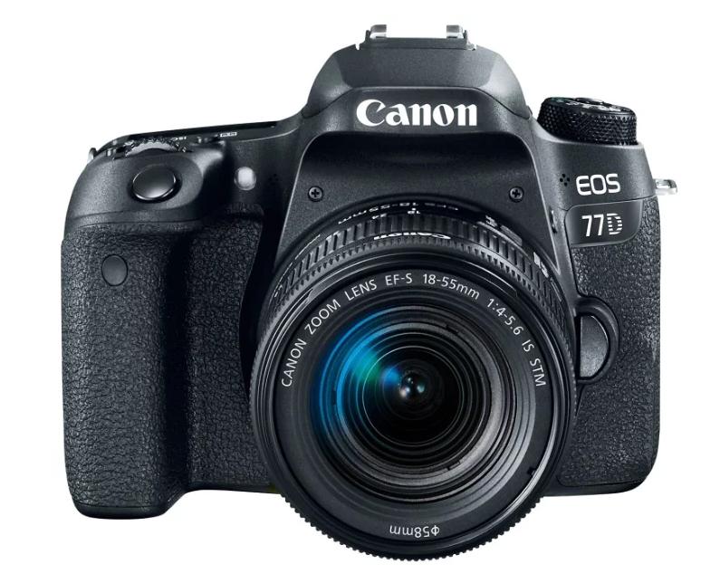 Зеркальный фотоаппарат Canon EOS 77D Kit для начинающих