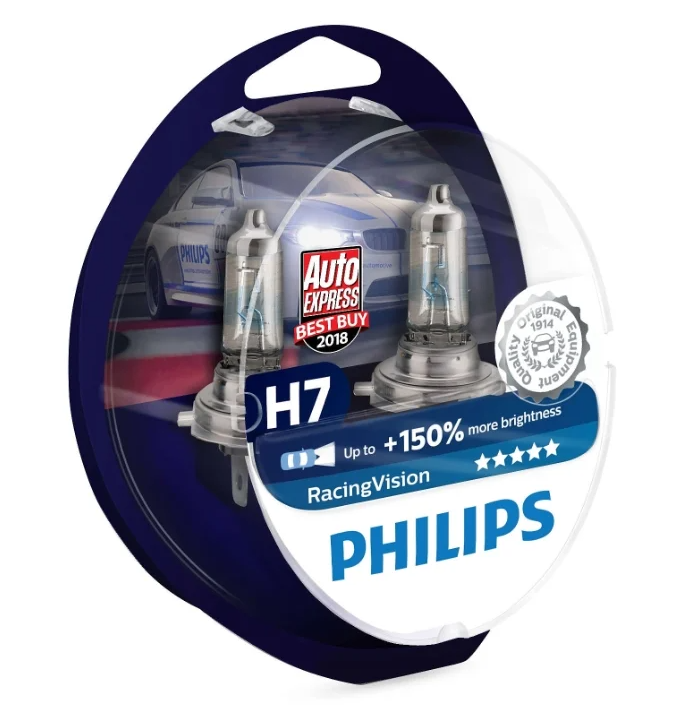 Philips RacingVision +150% 12972RVS2 H7 12V 55W 2 шт.