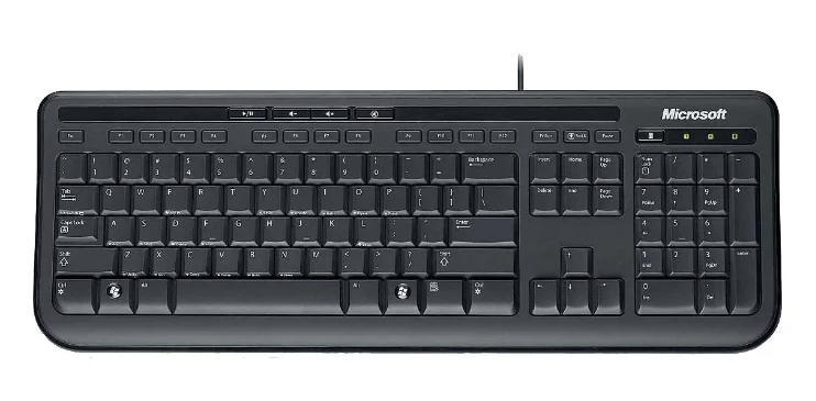 Microsoft Wired Keyboard 600 Black USB