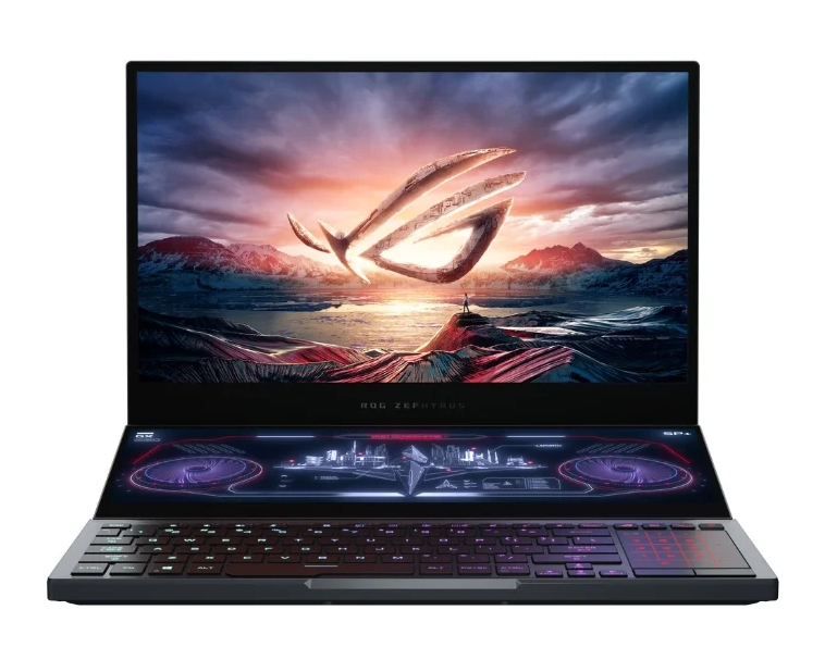 "ASUS ROG Zephyrus Duo 15 GX550LXS-HC066T (Intel Core i9 10980HK 2400MHz/15.6""/3840x2160/32GB/2048GB SSD/DVD нет/NVIDIA GeForce RTX 2080 MAX-Q 8GB/Wi-Fi/Bluetooth/Windows 10 Home)"