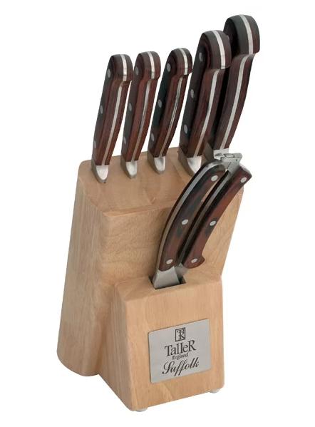 Taller Suffolk, 5 ножей и ножницы с подставкой