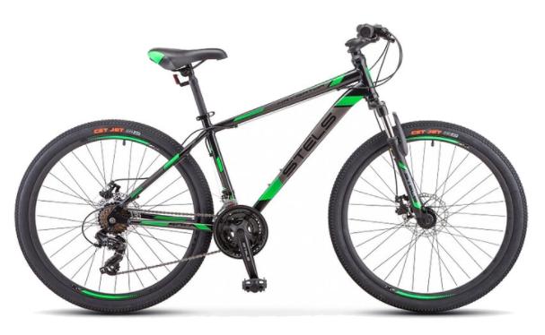 """(MTB) велосипед STELS Navigator 500 MD 26 F010 (2019) черный/красный 20"""" (требует финальной сборки)"""