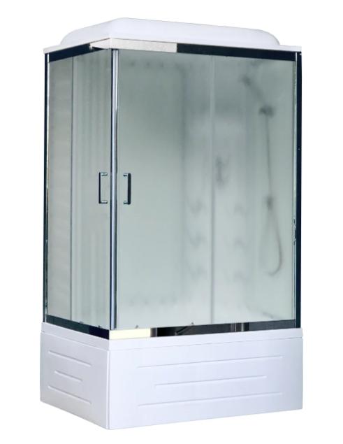 Royal Bath RB 8100BP3 R высокий поддон 100см*80см хром/белый матовое