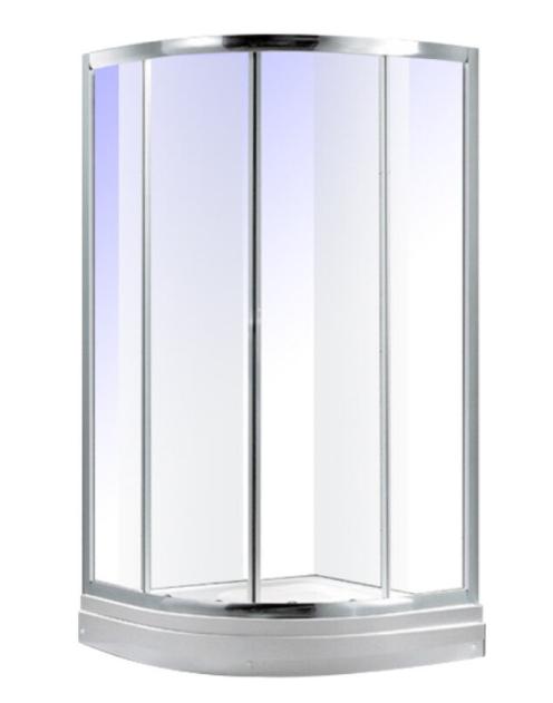 Maroni ULR-090 низкий поддон 90см*90см хром прозрачное