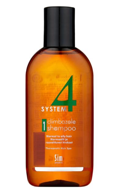 Sim Sensitive SYSTEM 4 Climbazole Shampoo 1 Терапевтический шампунь № 1 для нормальной и жирной кожи головы, 100 мл