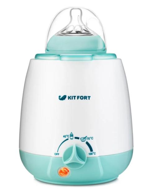 Подогреватель-стерилизатор Kitfort KT-2301, белый/голубой
