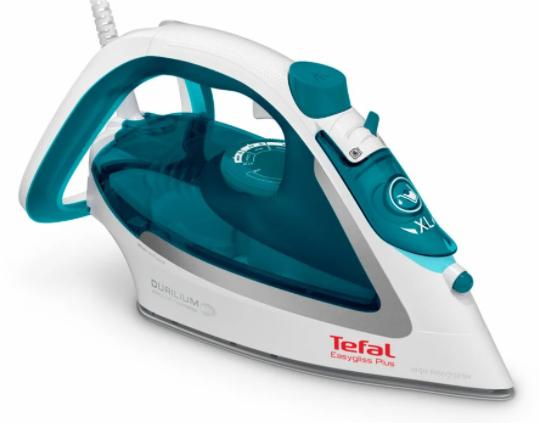 Tefal FV5718 Easygliss Plus белый/бирюзовый паровой