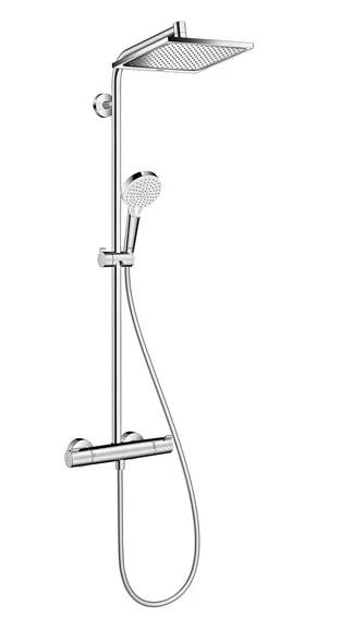 hansgrohe Crometta E 240 1jet Showerpipe EcoSmart 27281000